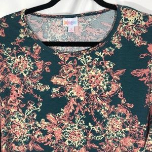 🍊Lularoe Forest Green Floral Irma